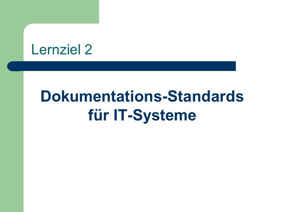 Lernziel 2 Dokumentations-Standards für IT-Systeme