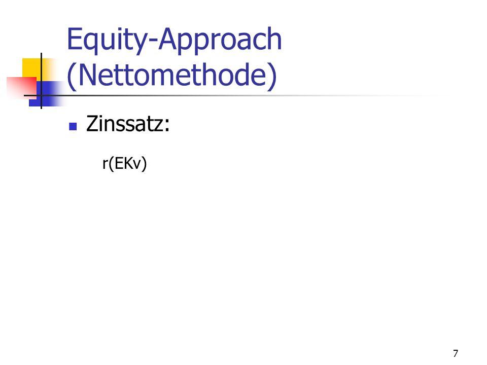 7 Equity-Approach (Nettomethode) Zinssatz: r(EKv)