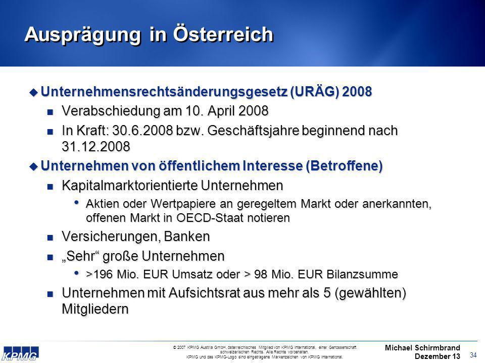 33 8. EU-Audit-Richtlinie (RL 2006/43/EG) EuroSox