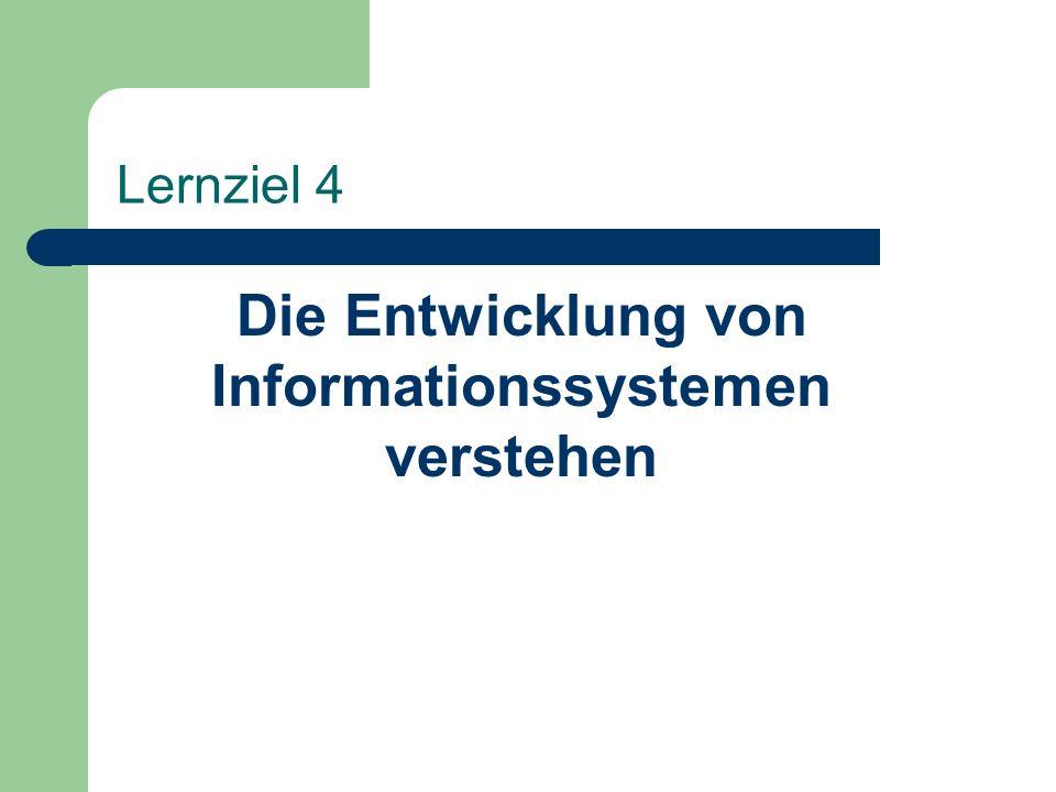Lernziel 4 Die Entwicklung von Informationssystemen verstehen