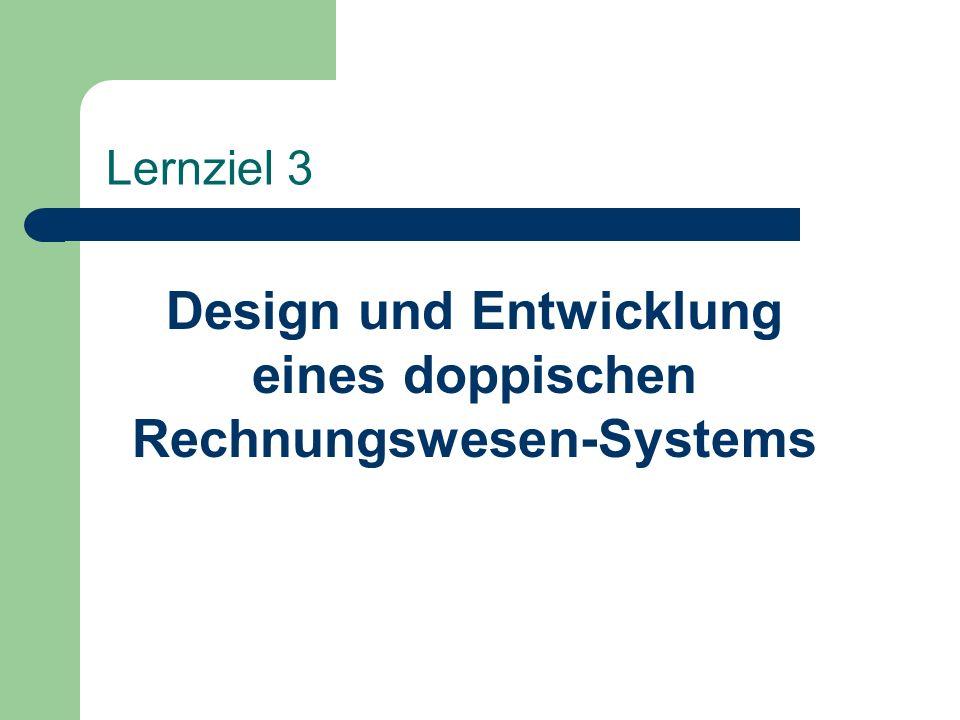 Lernziel 3 Design und Entwicklung eines doppischen Rechnungswesen-Systems