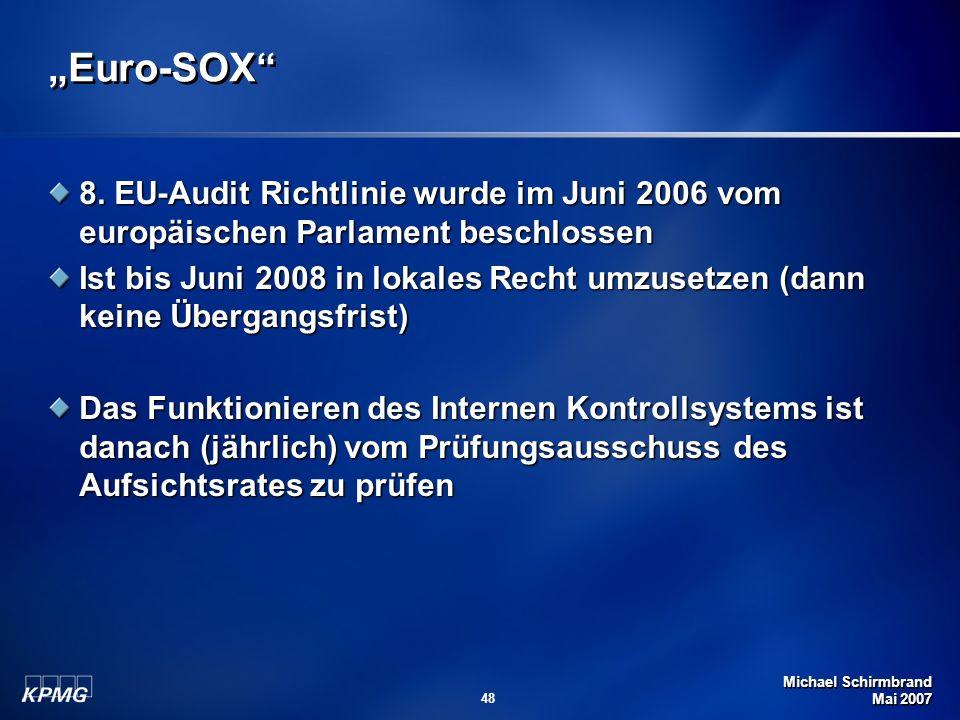 Michael Schirmbrand Mai 2007 48 Euro-SOX 8.