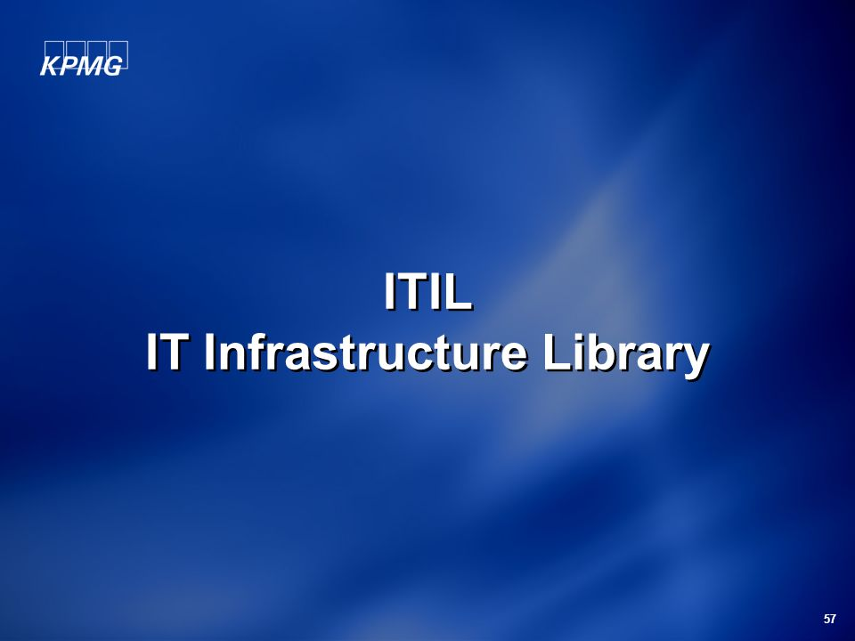 57 ITIL IT Infrastructure Library