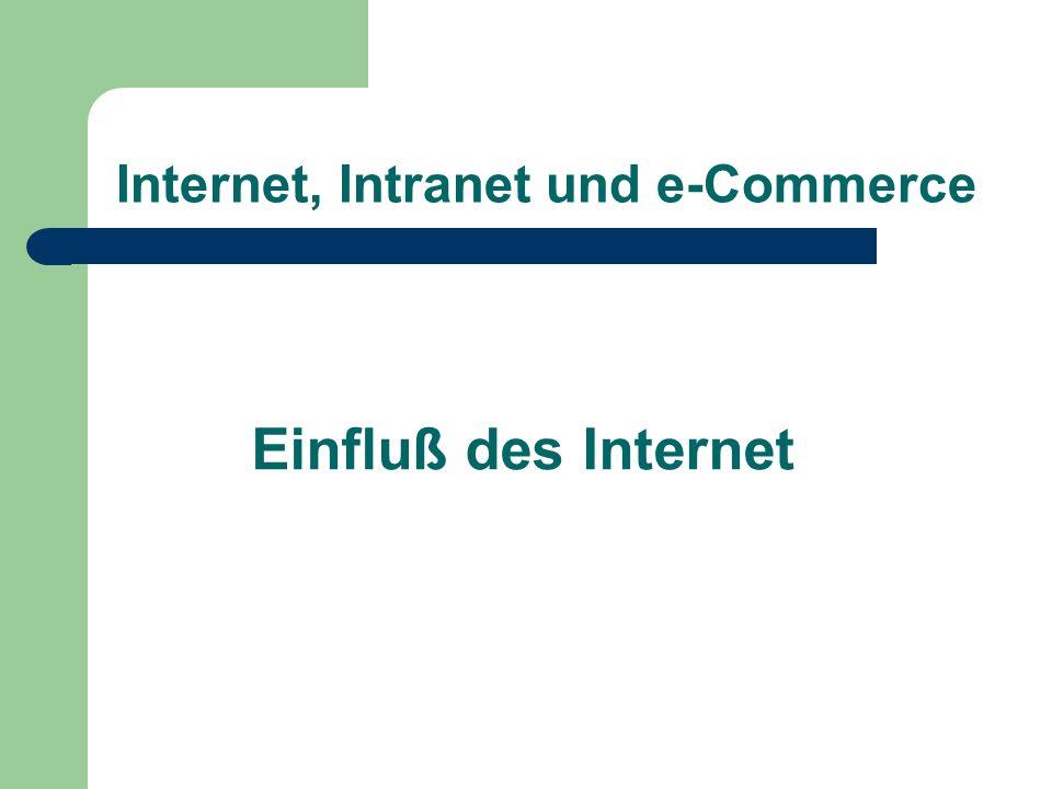 Internet, Intranet und e-Commerce Einfluß des Internet