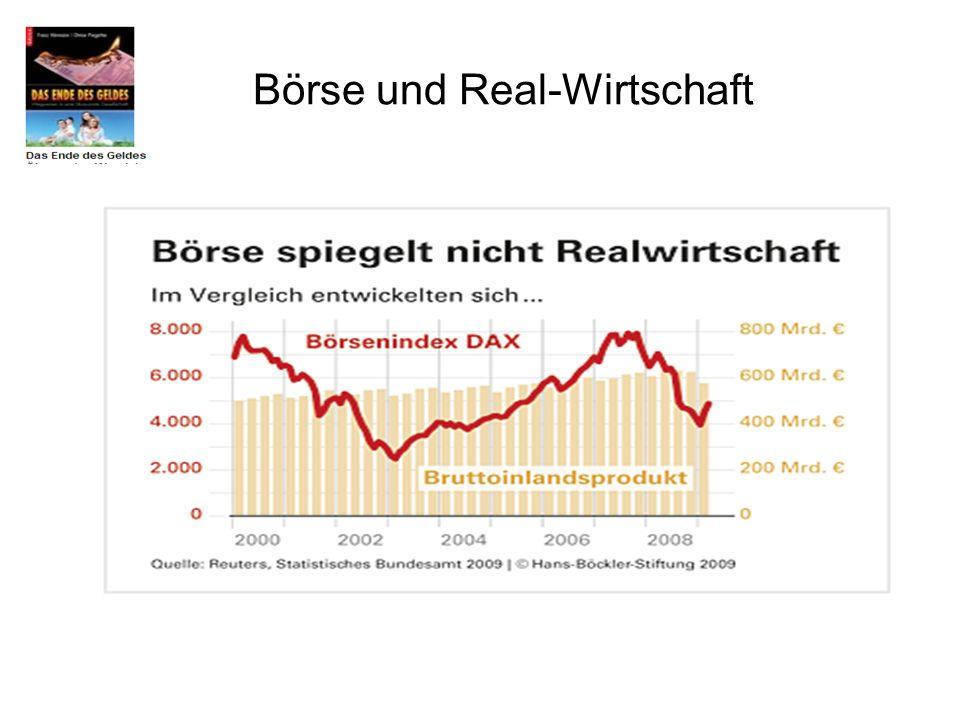 Börse und Real-Wirtschaft