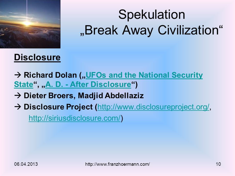 Disclosure Richard Dolan (UFOs and the National Security State, A.