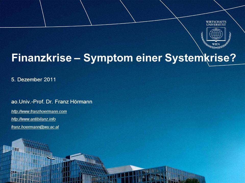 http://www.franzhoermann.com Geld entsteht als Schuld einer Bank gegenüber einer Nicht-Bank, es ist ein verzinster Schuldschein.