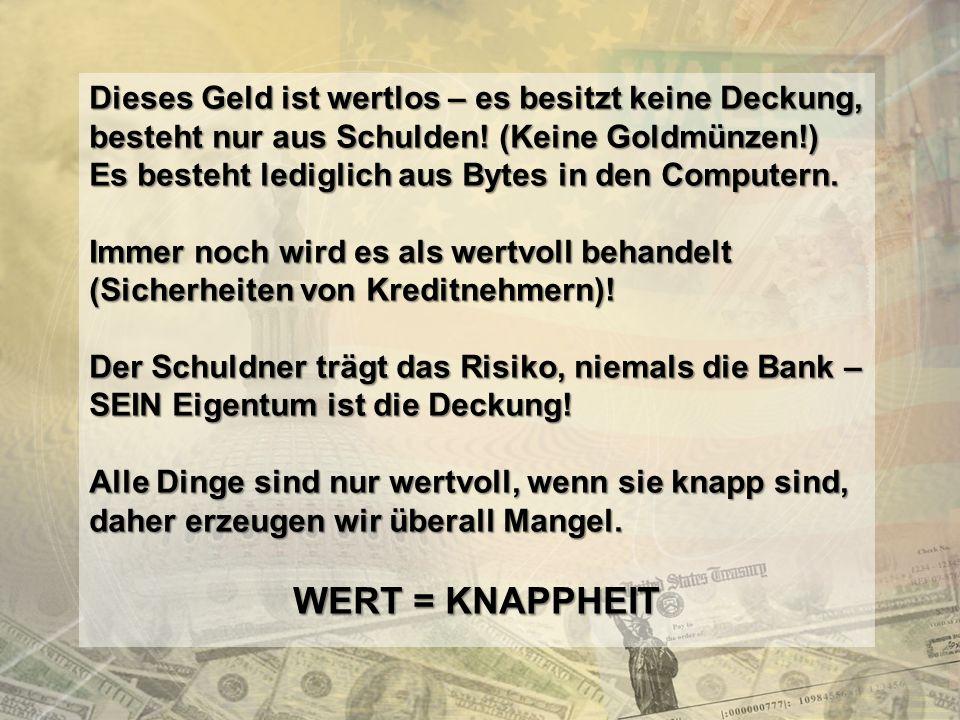 http://www.franzhoermann.com Das Ergebnis ist eine Ramsch-Ökonomie, deren Ziel es ist, staatliche Kontrolle unmöglich zu machen und die Planungsgewalt in die Hände der Hochfinanz zu legen, weil das angeblich effizienter sei als eine staatliche Regulierung.