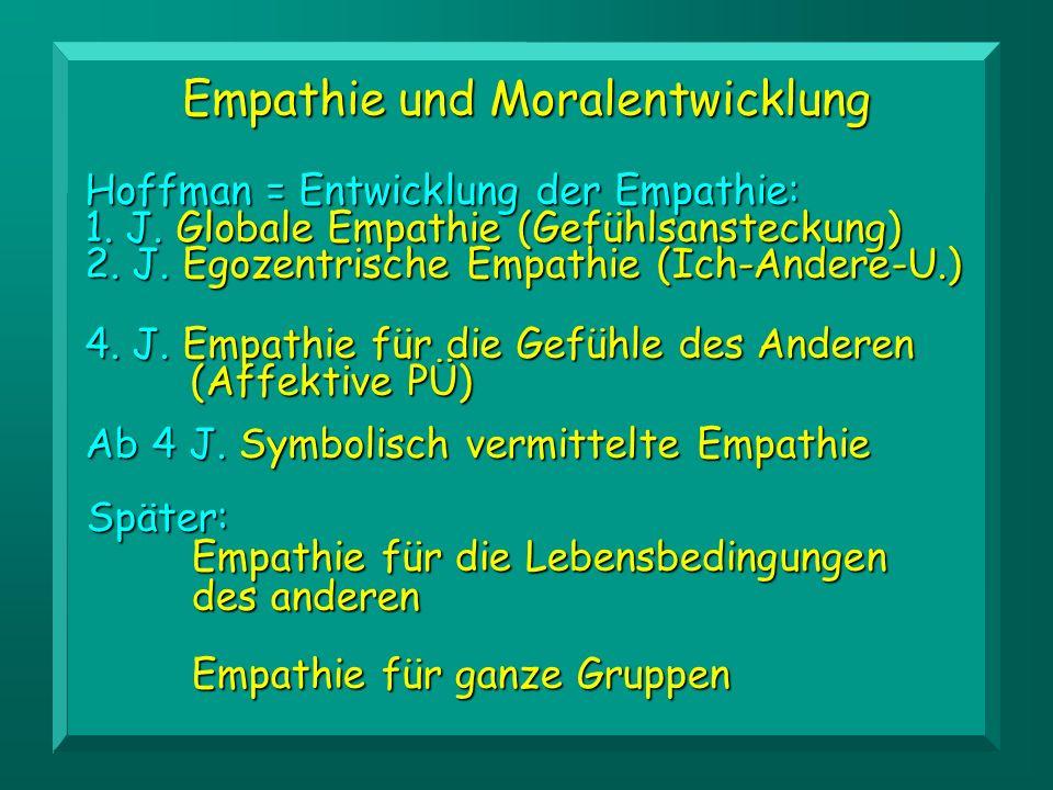 Empathie und Moralentwicklung Ab 4 J.