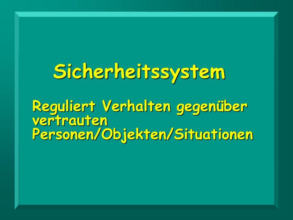 Sicherheitssystem Reguliert Verhalten gegenüber vertrauten Personen/Objekten/Situationen