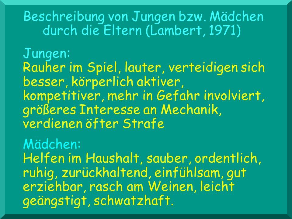 Entwicklung von Stereotypen Dannhauer, DDR; 3 bis 6 J.