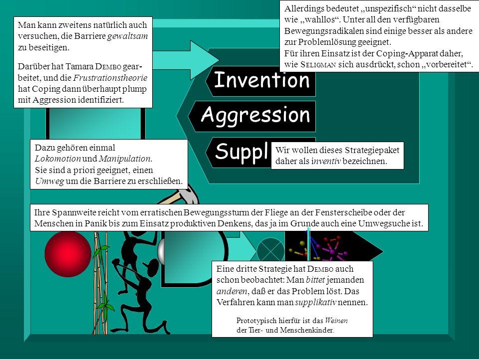 Invention Aggression Supplikat.Allerdings bedeutet unspezifisch nicht dasselbe wie wahllos.