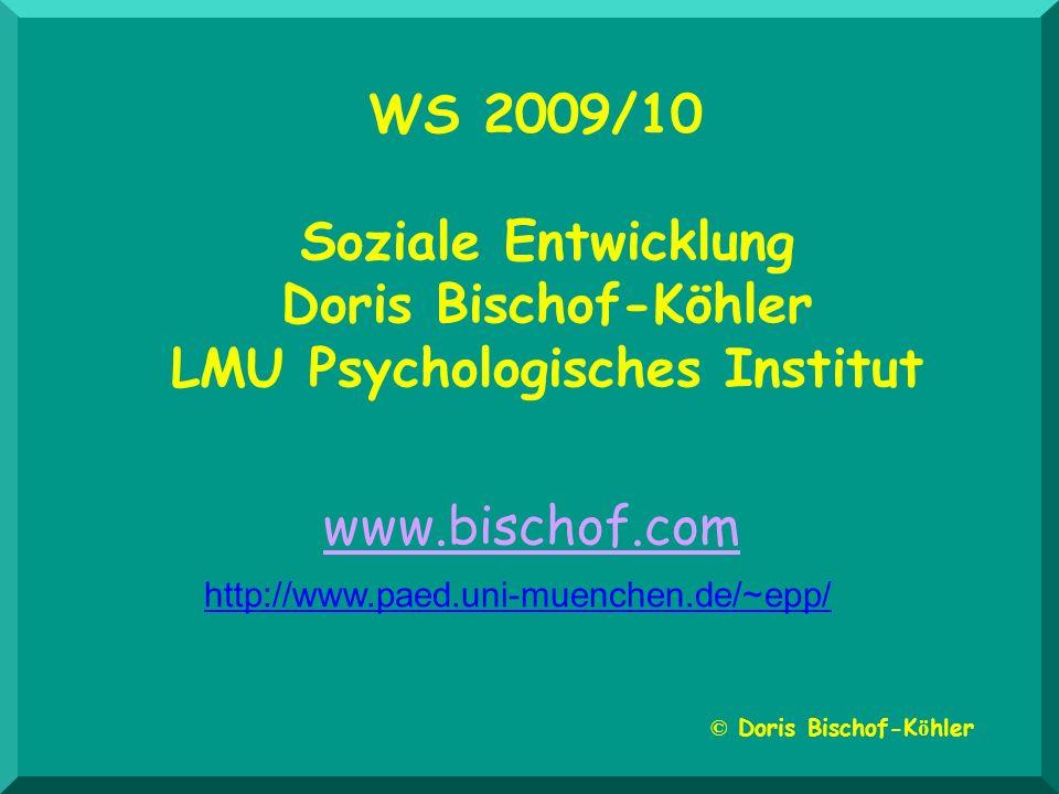 WS 2009/10 Soziale Entwicklung Doris Bischof-Köhler LMU Psychologisches Institut © Doris Bischof-K ö hler www.bischof.com http://www.paed.uni-muenchen.de/~epp/