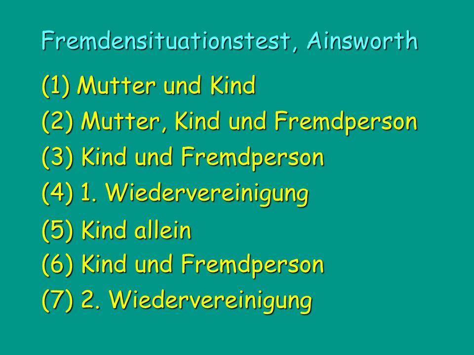 Fremdensituationstest, Ainsworth (1) Mutter und Kind (4) 1.