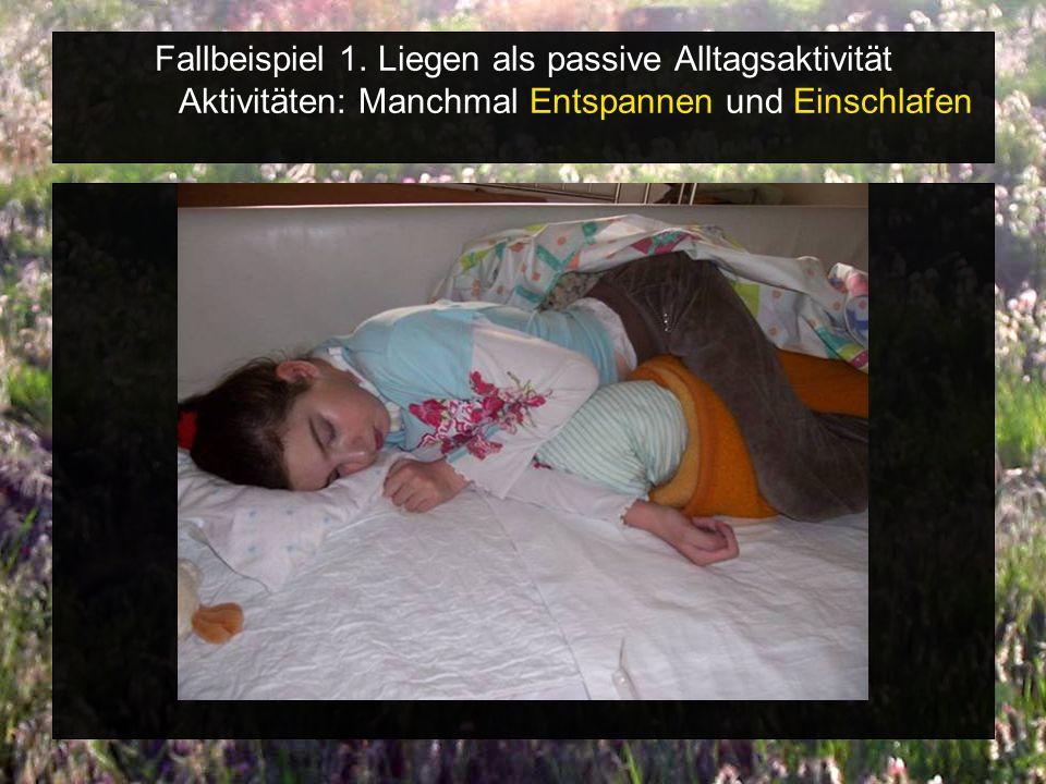 Spiel/Freizeit/Wohlfühlen im Schlaf-Wachniveau Alltagsaktivitäten Ja/ Nein Positive vegetative Reaktionen Entspannt sich (positiv) Wirkt wacher Kuscheln, schmusen Spielakt.