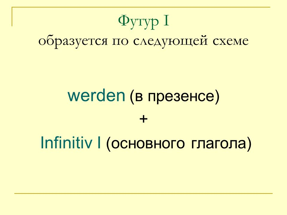 Спряжение глагола werden: Ich werde Du wirst Er wird Wir werden Ihr werdet Sie werden Ich … kommen.