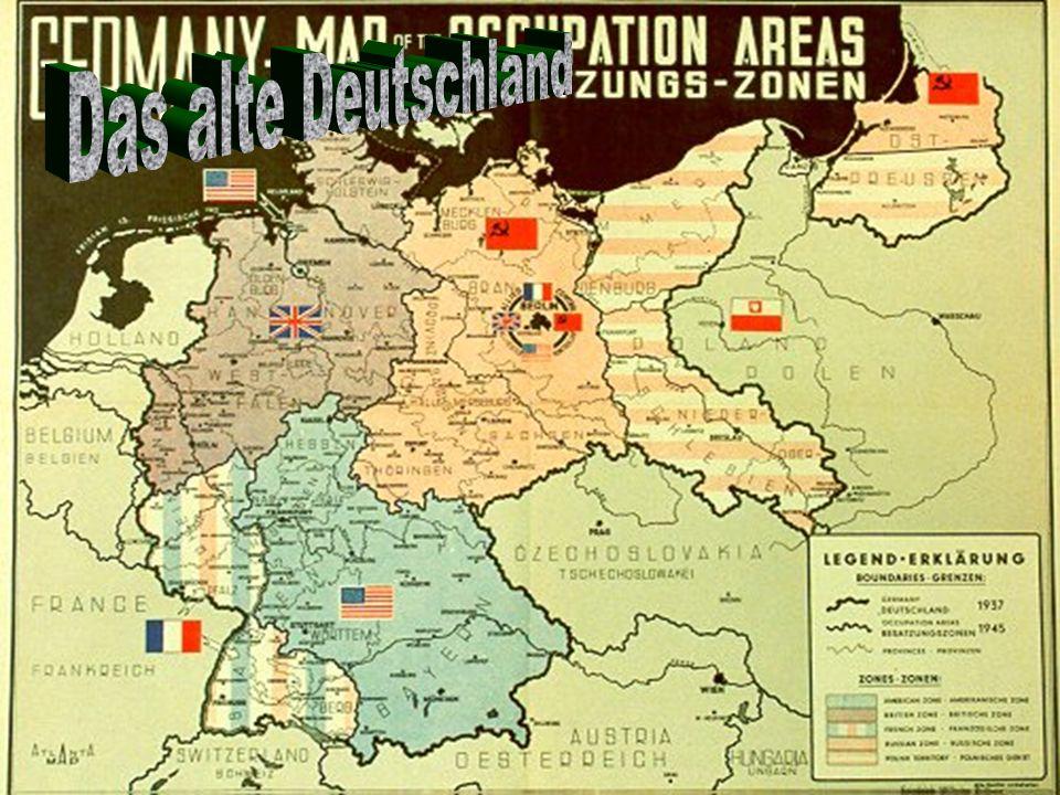 Bundesrepublik Deutschland Westliches Deutschland Kontrolliert von Frankreich, Grossbritannien, und die Vereinigten Staaten UND Deustche Demokratische Republik Ostliches Deutschland Kontrolliert von Russland