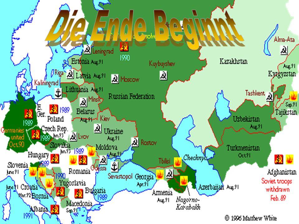Im 1989 wurde die Ende von der Sowjetische Vereinigung beginnen.