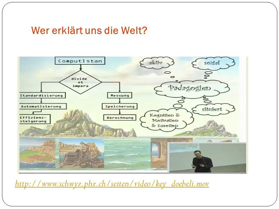 Wer erklärt uns die Welt? http://www.schwyz.phz.ch/seiten/video/key_doebeli.mov