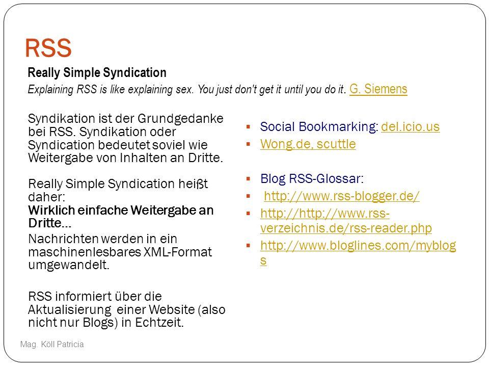 RSS Syndikation ist der Grundgedanke bei RSS. Syndikation oder Syndication bedeutet soviel wie Weitergabe von Inhalten an Dritte. Really Simple Syndic