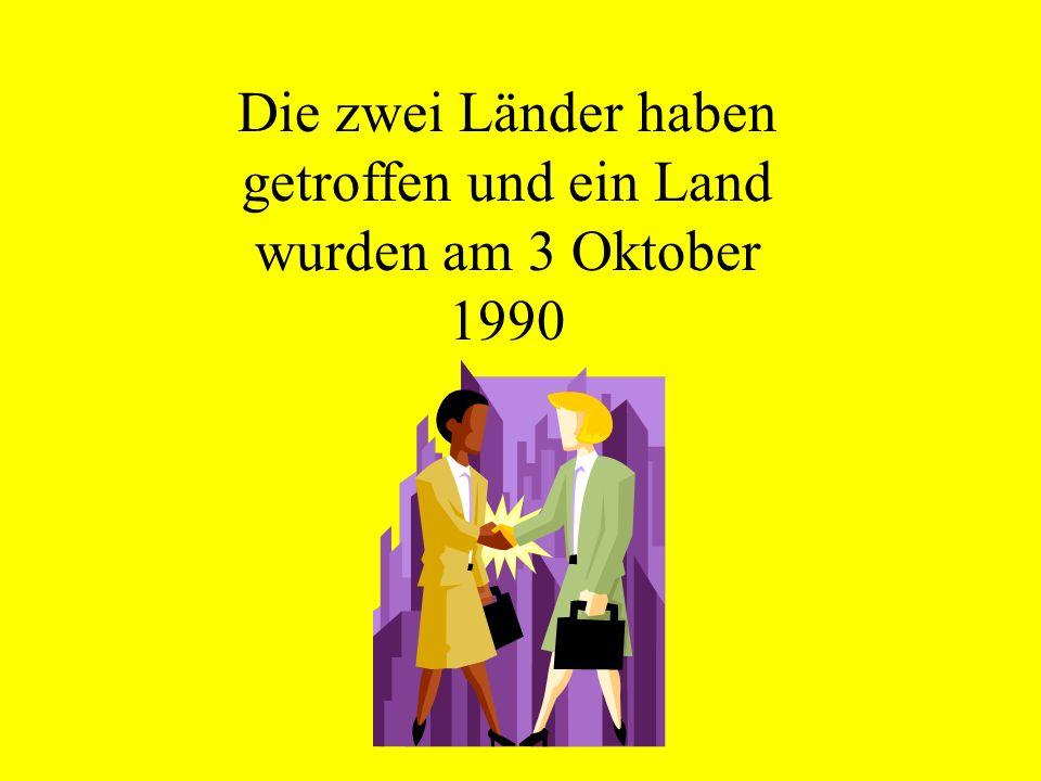 Die zwei Länder haben getroffen und ein Land wurden am 3 Oktober 1990