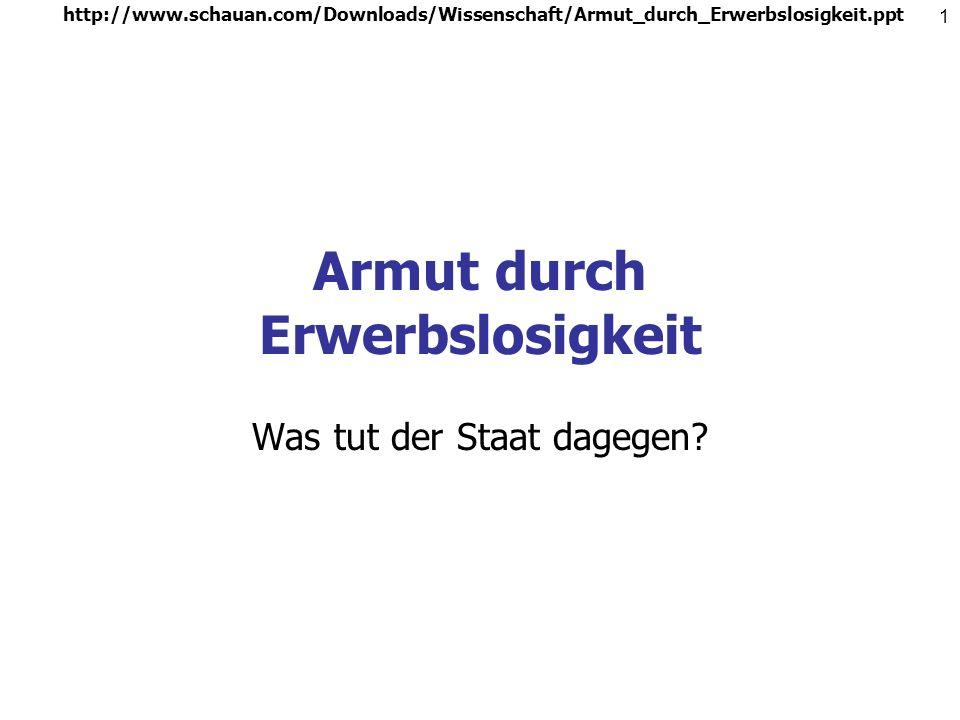 http://www.schauan.com/Downloads/Wissenschaft/Armut_durch_Erwerbslosigkeit.ppt 11 Veränderungen durch Hartz IV