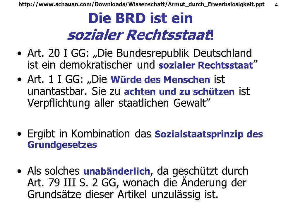 http://www.schauan.com/Downloads/Wissenschaft/Armut_durch_Erwerbslosigkeit.ppt 3 Der liberale Rechtsstaat Modell des liberalen Rechtsstaates setzt auf