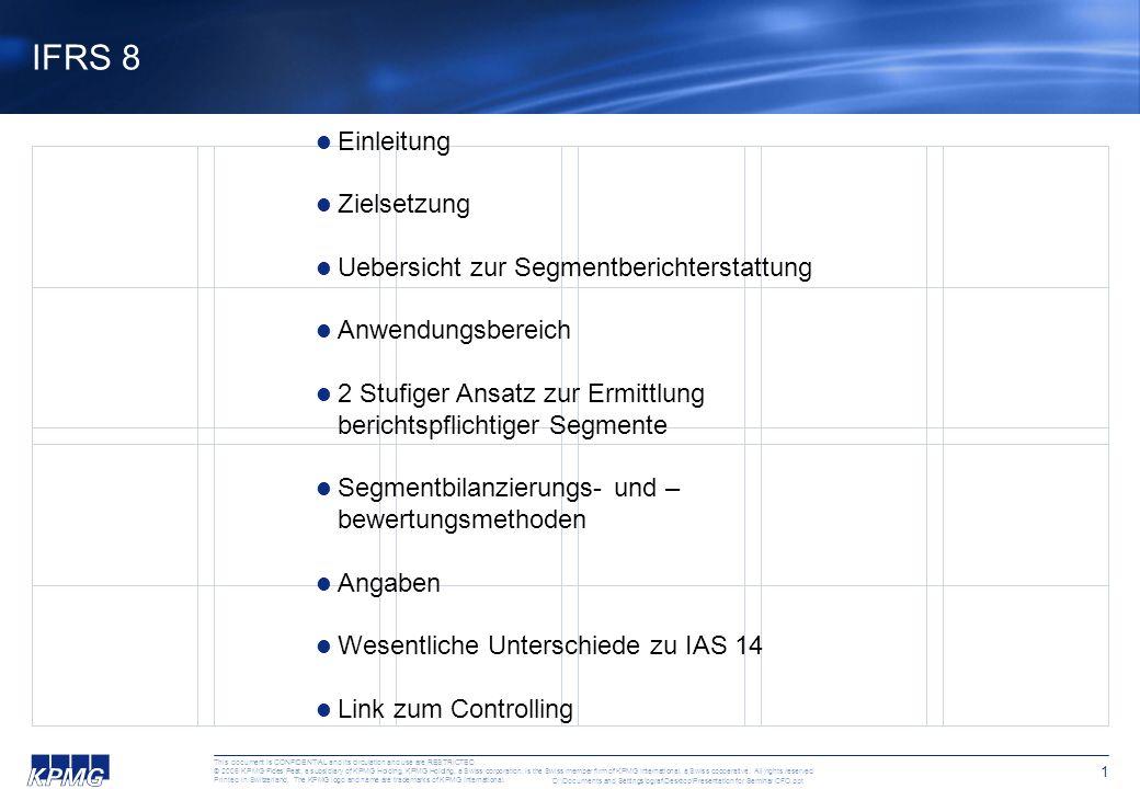 IFRS Update für CFOs und Controller Eine Veranstaltung von KPMG und Managementkompetenz Zürich 23.