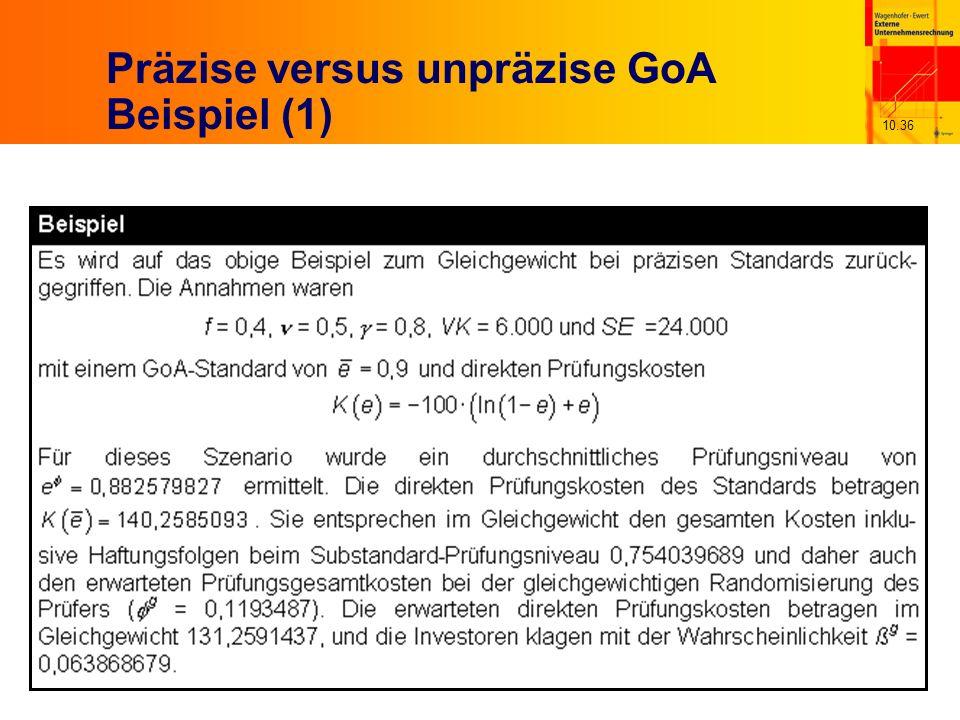 10.36 Präzise versus unpräzise GoA Beispiel (1)