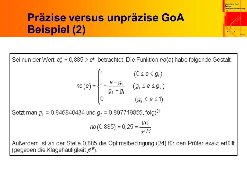 10.37 Präzise versus unpräzise GoA Beispiel (2)