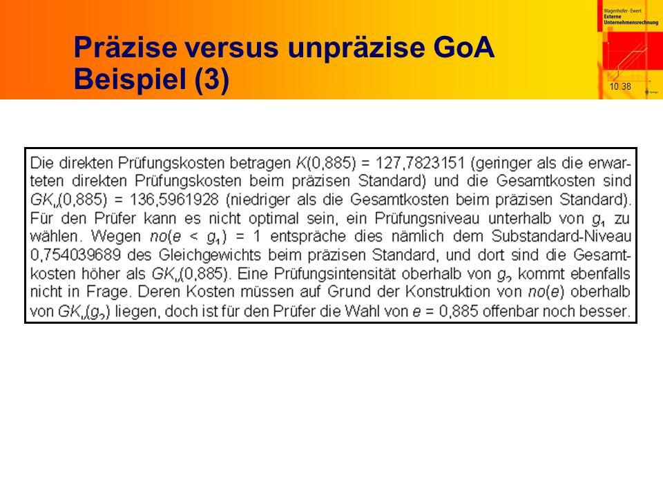 10.38 Präzise versus unpräzise GoA Beispiel (3)