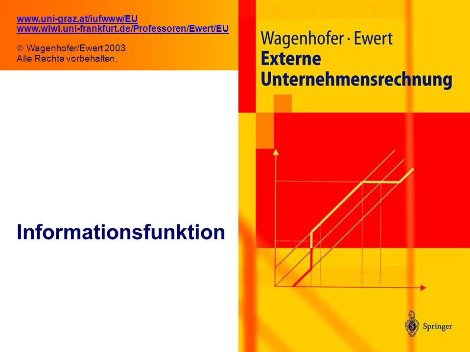 2.1 Informationsfunktion www.uni-graz.at/iufwww/EU www.wiwi.uni-frankfurt.de/Professoren/Ewert/EU Wagenhofer/Ewert 2003.