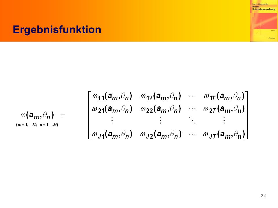 2.5 Ergebnisfunktion