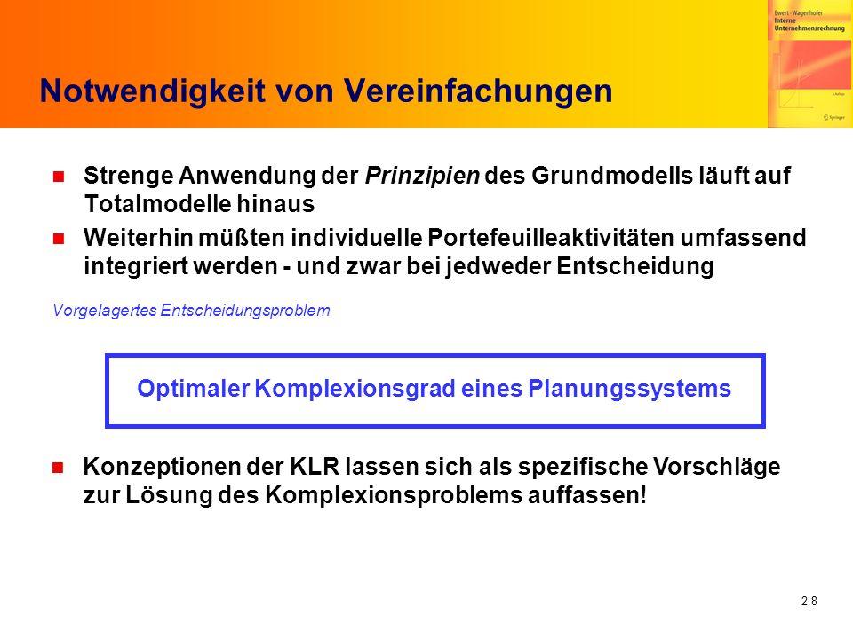 2.9 Investoren und Unternehmen Investor(in)Konsum Arbeits- einkommen Unt 1 Unt 2...Unt n FIVG Fin 1 Fin 2...Fin m