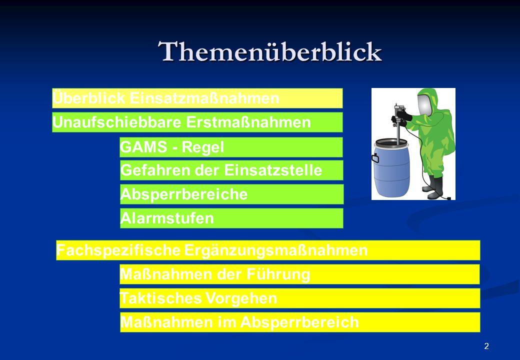 1 Gefahrguteinsatz - Einsatzmaßnahme n GAMS - Feuerwehr Rohrbach/Thüringen
