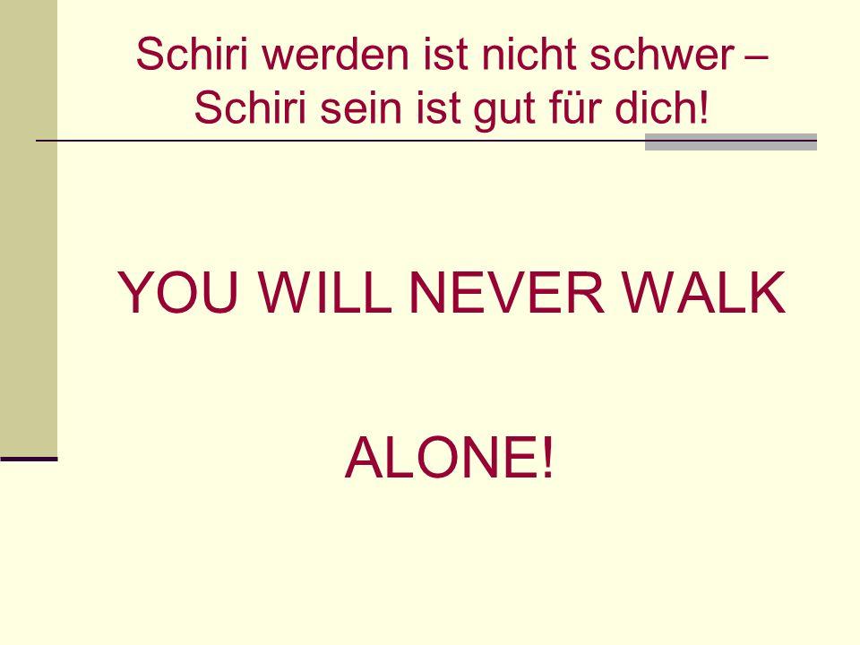 Schiri werden ist nicht schwer – Schiri sein ist gut für dich! YOU WILL NEVER WALK ALONE!
