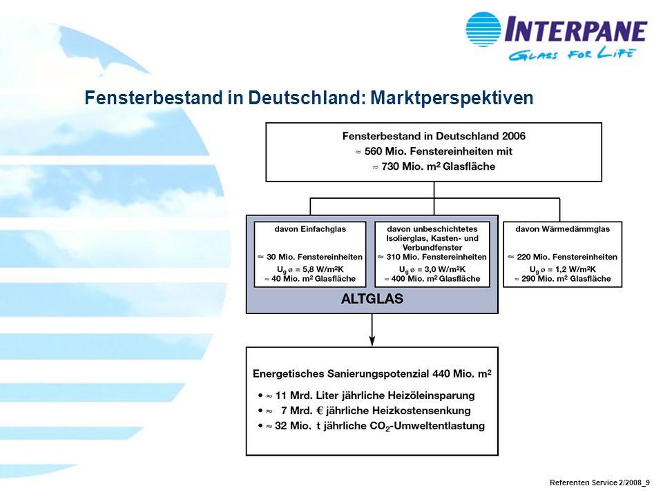 Referenten Service 2/2008_9 Fensterbestand in Deutschland: Marktperspektiven