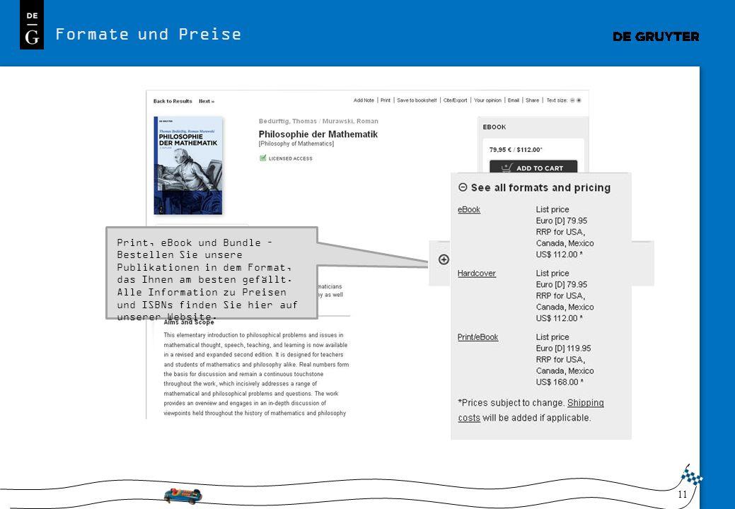 11 Formate und Preise Print, eBook und Bundle – Bestellen Sie unsere Publikationen in dem Format, das Ihnen am besten gefällt.