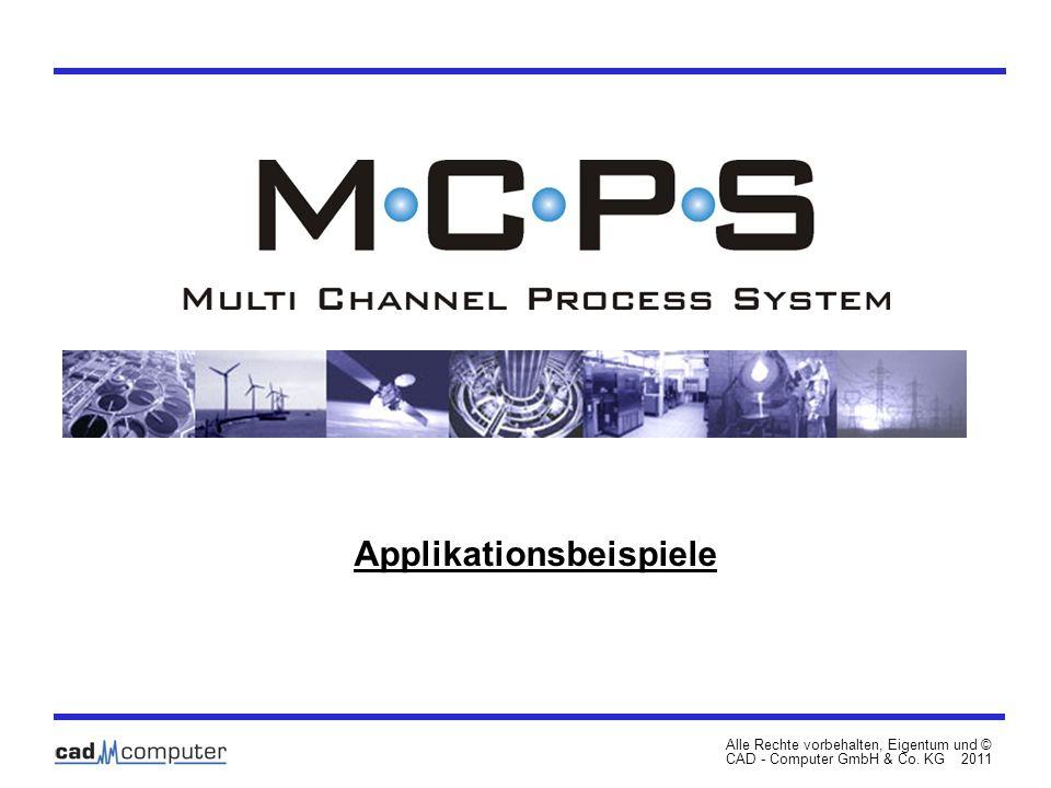 Applikationsbeispiele Alle Rechte vorbehalten, Eigentum und © CAD - Computer GmbH & Co. KG 2011