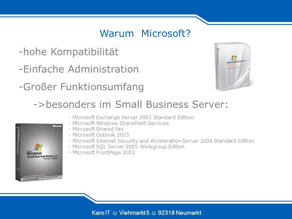 Karo IT Viehmarkt 5 92318 Neumarkt Warum Linux.