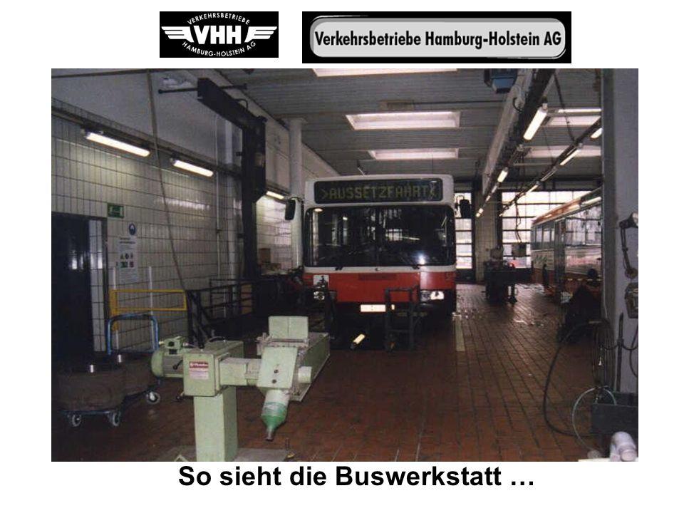So sieht die Buswerkstatt …