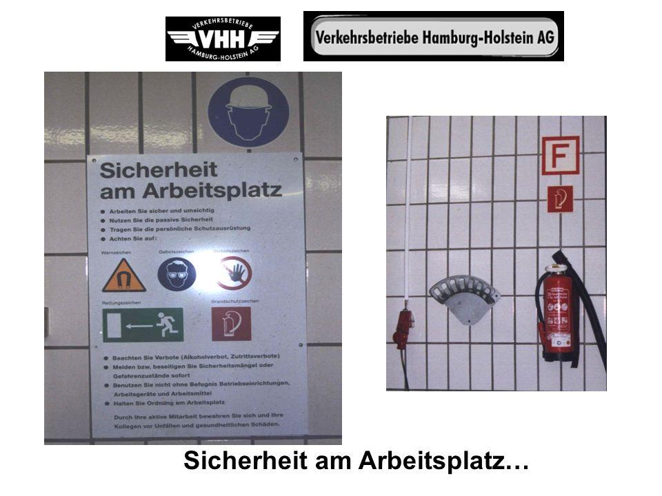 Sicherheit am Arbeitsplatz…