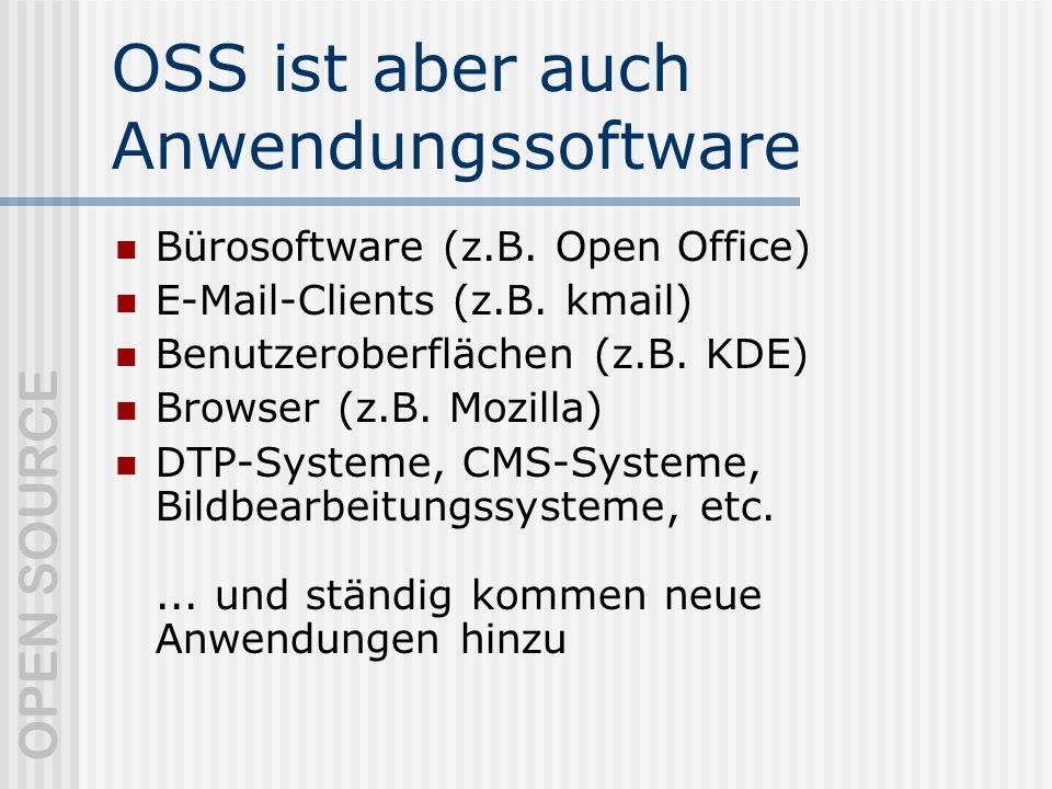OPEN SOURCE TCO mit Open Source