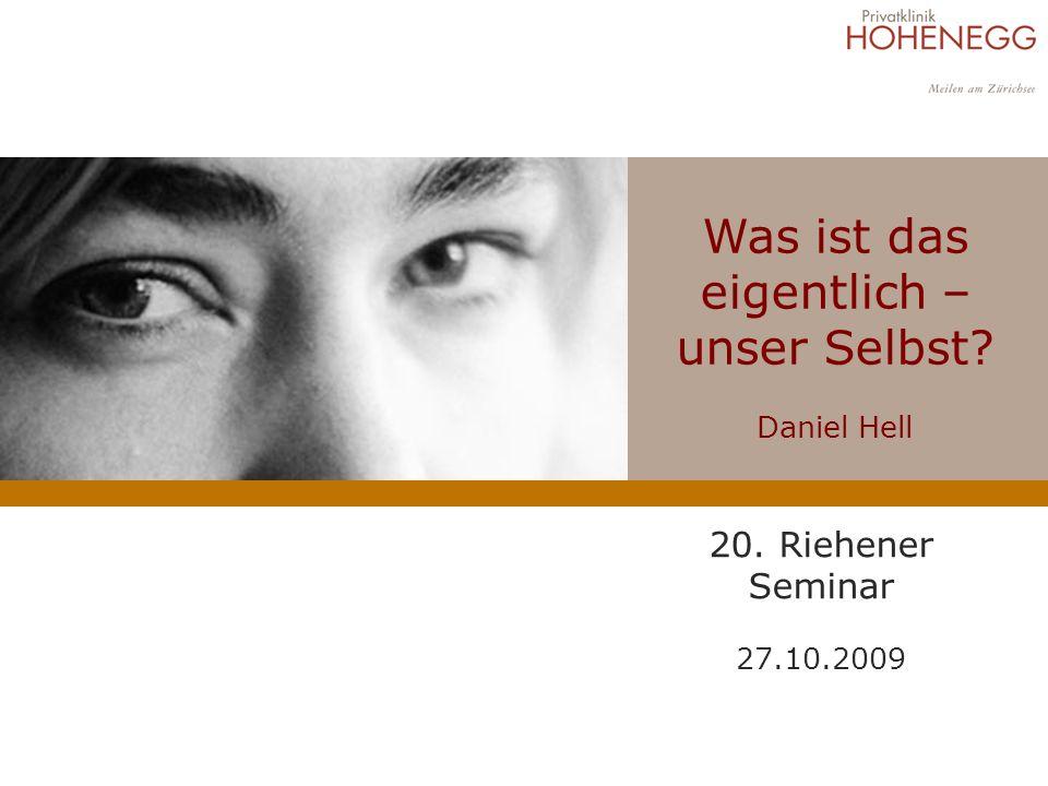 Was ist das eigentlich – unser Selbst? Daniel Hell 20. Riehener Seminar 27.10.2009