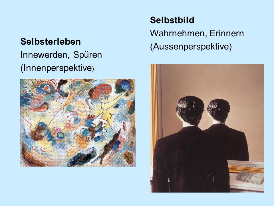 Selbstbild Wahrnehmen, Erinnern (Aussenperspektive) Selbsterleben Innewerden, Spüren (Innenperspektive )