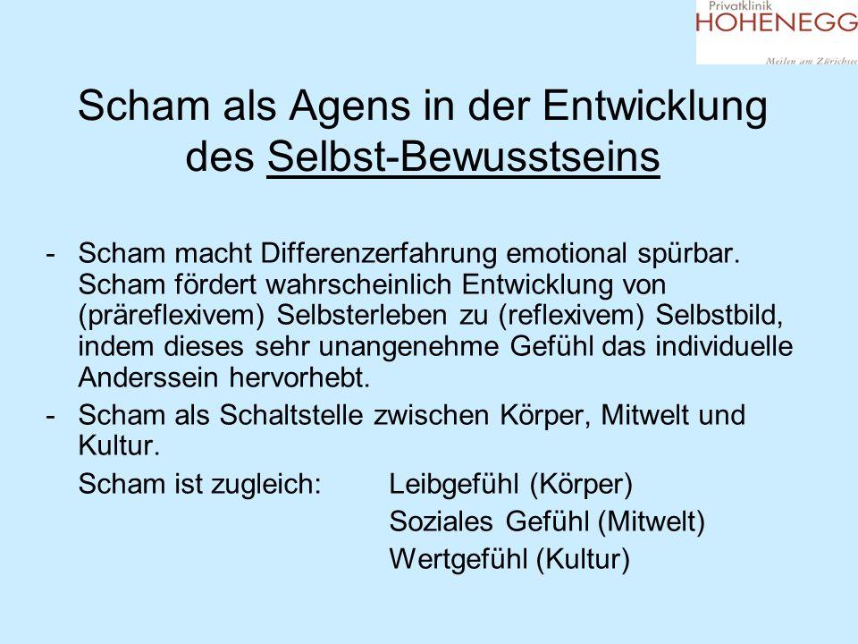 Scham als Agens in der Entwicklung des Selbst-Bewusstseins -Scham macht Differenzerfahrung emotional spürbar. Scham fördert wahrscheinlich Entwicklung