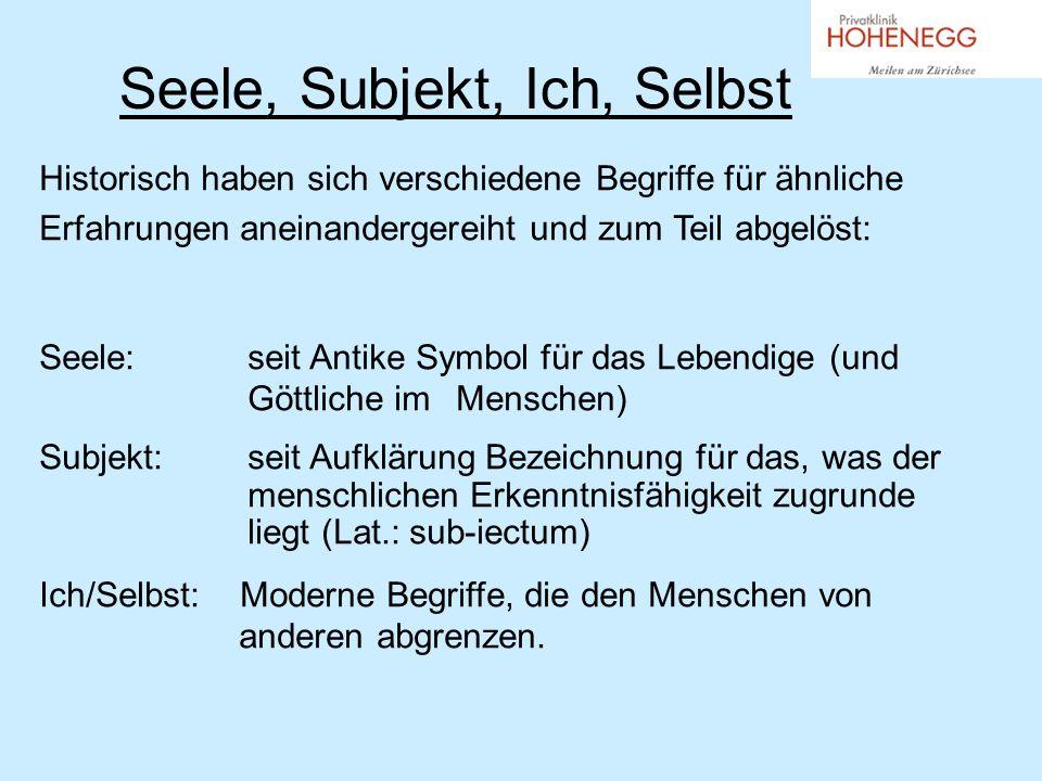Der Begriff des Selbst Der Selbst-Begriff ist neueren Datums (18./19.