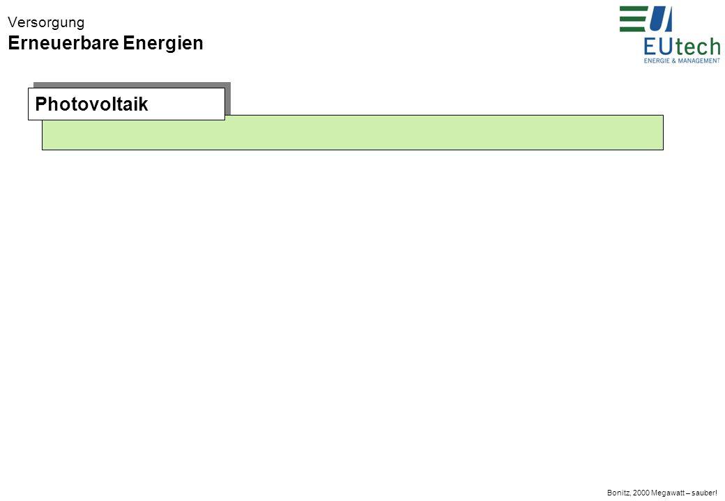 Bonitz, 2000 Megawatt – sauber! Versorgung Erneuerbare Energien Windenergie