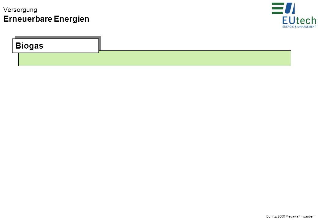 Bonitz, 2000 Megawatt – sauber! Versorgung Erneuerbare Energien Biomasse