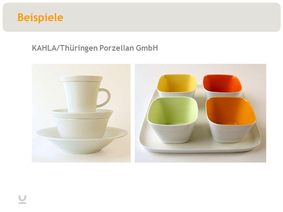 Beispiele KAHLA/Thüringen Porzellan GmbH